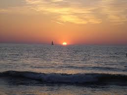 sunset love just sailboat beautiful sunset clouds ocean waves