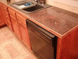 Tile Kitchen Countertop Designs Remarkable Granite Tile Countertop Decorating Ideas Granite