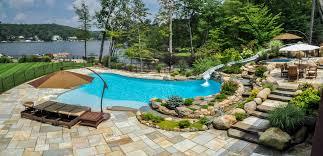 Swimming Pool Ideas For Backyard Pool Design Nj Clc Landscape Design