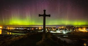 Northern Lights Football League Amazing Footage Of The Northern Lights As Star Gazers Watch The