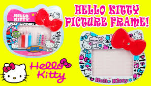 diy hello kitty picture frame craft toy videos for children