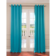 Turquoise Blackout Curtains Exclusive Fabrics Furnishings Semi Opaque Turquoise Blue Grommet
