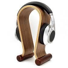 Wood Audio Rack Wood Wooden Headphone Stand Holder Earphone Hanger Headset Display
