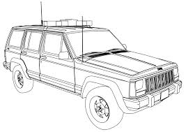 car coloring pages police car coloring pages eassume