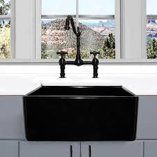 24 inch farmhouse sink highpoint collection 24 inch black single bowl rectangle fireclay