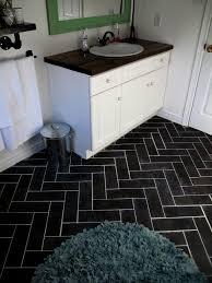 Diy Bathroom Floor Ideas Herringbone Bathroom Floor Luxury Vinyl Tile Diy Budget
