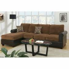 High Back Sectional Sofas by Poundex Bobkona 2 Piece Padded Suede Sectional Sofa Set Chocolate