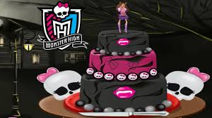monster high cake for halloween decorate game for girls youtube