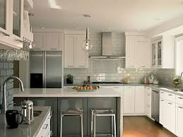 light grey subway tile backsplash kitchen tiles stacked stone