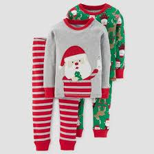 toddler boys 4pc sleeve milk cookies pajama set just one