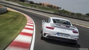 2016 Porsche 911 Turbo S Coupe White Rear Hd Wallpaper 27