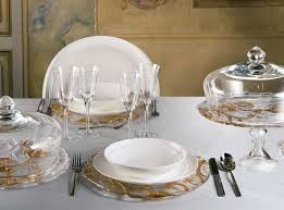 ornate gold glass charger plate catering equipment hire