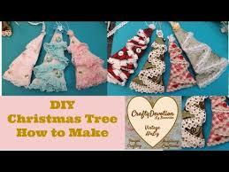 diy christmas tree decor fabric crafts ornament shabby chic