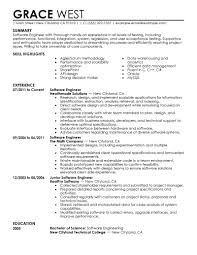 Sample Resume Software Developer by Sample Resume For Software Engineer With One Year Experience