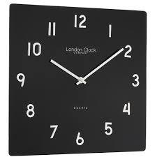glass wall clock finish black amazon co uk kitchen u0026 home