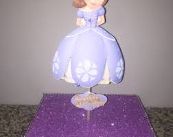 sofia the first centerpiece etsy