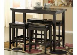 rectangle table and chairs compass furniture kimonte rectangular counter height table w 4 dark
