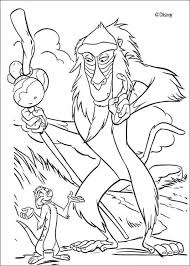coloring page lion lion king coloring pages roi capture magnificent rafiki and timon