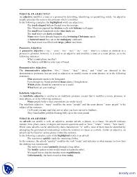 Intensive And Reflexive Pronouns Worksheet Part 9 Adjectives Elementary English Writing Lecture Notes