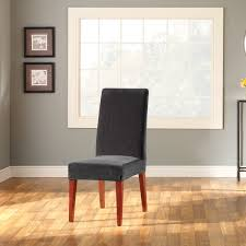 sure fit stretch pinstripe short dining room chair cover chair