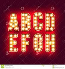 vintage letters set of retro neon alphabet part 1 stock