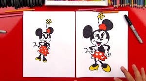 draw minnie mouse art kids hub