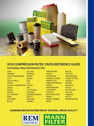 mann compressor cross reference guide