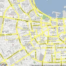 doha qatar map map of doha qatar hotels accommodation