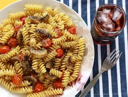 vegetarian pasta with toasted fennel seeds season with spice