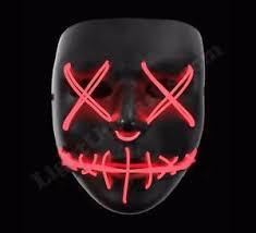 Led Halloween Costume Light Purge Mask