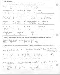 Worksheet Word Equations Naming Ionic Compounds Worksheet Answers Worksheets