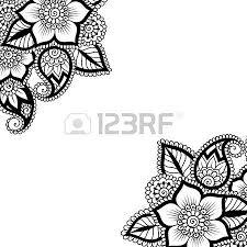 black flower corner lace ornament royalty free cliparts vectors