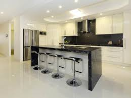 design cozy modern black and white kitchen decoration using