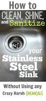 ideas cleaning stainless steel sink with baking soda cleaning