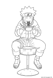 coloring pages anime naruto eating ramene8cd coloring pages printable