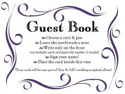guest book sign in how do my guest book vase signs look