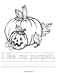 i like my pumpkin worksheet twisty noodle