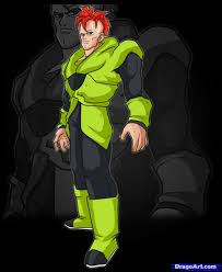 learn draw android 16 dragon ball characters anime