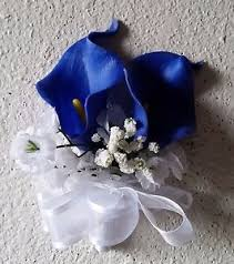 royal blue boutonniere royal blue calla corsage or boutonniere ebay
