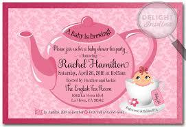 girl baby shower invitations girl tea party baby shower invitations tea party baby shower