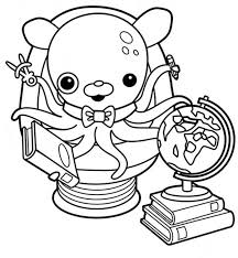 Awesome Professor Inkling Octopus From The Octonauts Coloring Page Octonauts Coloring Pages