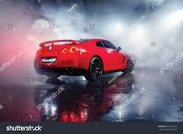 nissan red car vinnitsa ukraine 08 december 2013 red stock photo 603437369