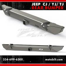 jeep rear bumper new motobilt jeep cj yj tj rear bumper motobilt metal