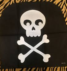 black pirate skull crossbones chair cover birthday party halloween