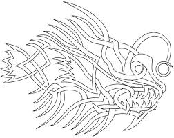 angler fish coloring getcoloringpages