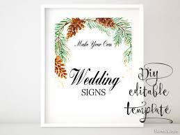 wedding signs template 8x10 diy printable sign template for word make your own