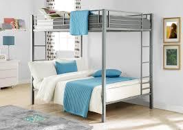 Metal Bunk Bed Ladder Dhp Furniture Full Over Full Metal Bunk Bed Silver