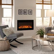 touchstone 80014 sideline 36 recessed electric fireplace 36