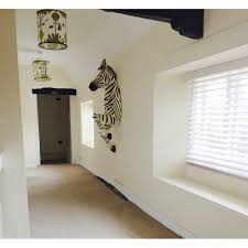 life size zebra wall mount funky black white antique reproductions next