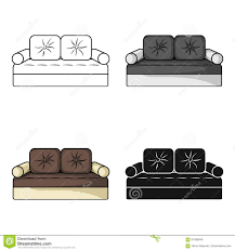couch icon in cartoon style isolated on white background
